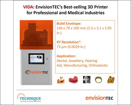 EnvisionTEC Vida: Best Selling 3D Printer For Professional & Medical Industries