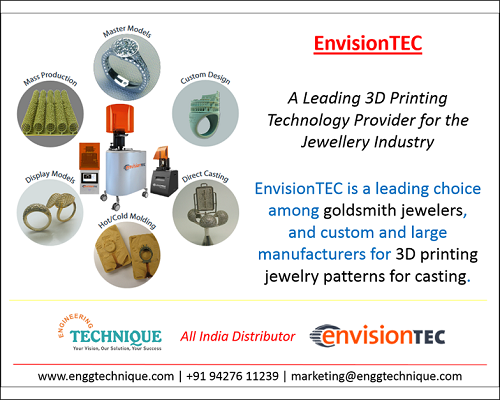 EnvisionTEC - Leading 3D Printing Technology Provider For Jewellery Industry