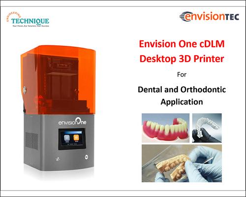 Envision One CDLM Desktop 3D Printer For Dental And Orthodontic Application