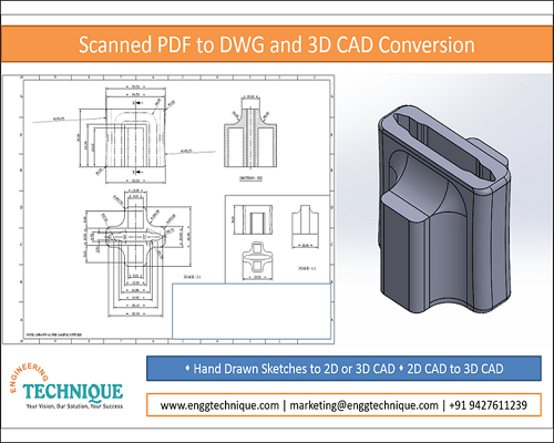 Scanned PDF To DWG And 3D CAD Conversion