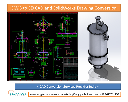 DWG To 3D CAD And SolidWorks Drawing Conversion