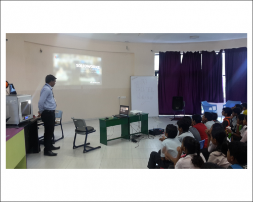 SOLIDWORKS App For Kids At Global Discovery School, Vadodara