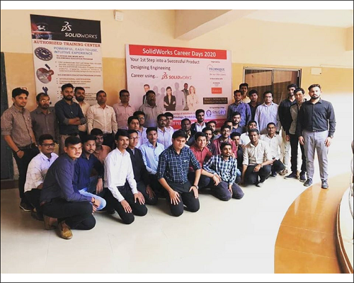 SolidWorks Career Days 2020 At R N G Patel Institute Of Technology